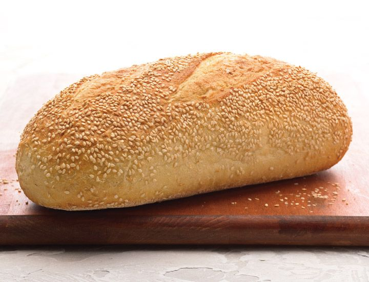 Sesame Semolina: A classic blend of semolina flour and toasted sesame seeds gives a rich colour with a subtle nutty flavour. Terrific with any egg dish or green salad. Only available in the U.S.A.