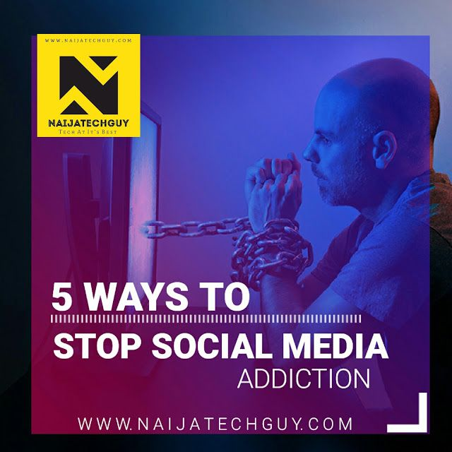 5 Ways To Stop Social Media Addiction   If you really want to stop getting addicted to social media you have to be disciplined and committed. It's usually very difficult to get rid of any form of addiction. You'll definitely feel anxious when you have not logged in for 24 hours because you think you are obviously missing out on important updates. After awhile you realize that these updates are not so important#1.Deactivate Your Social Media Accounts If you dont want to permanently delete…
