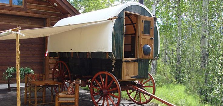 Sheep wagon a cabin on wheels cabins and cottages pinterest sheep gypsy wagon and caravan - The mobile shepherds wagon ...