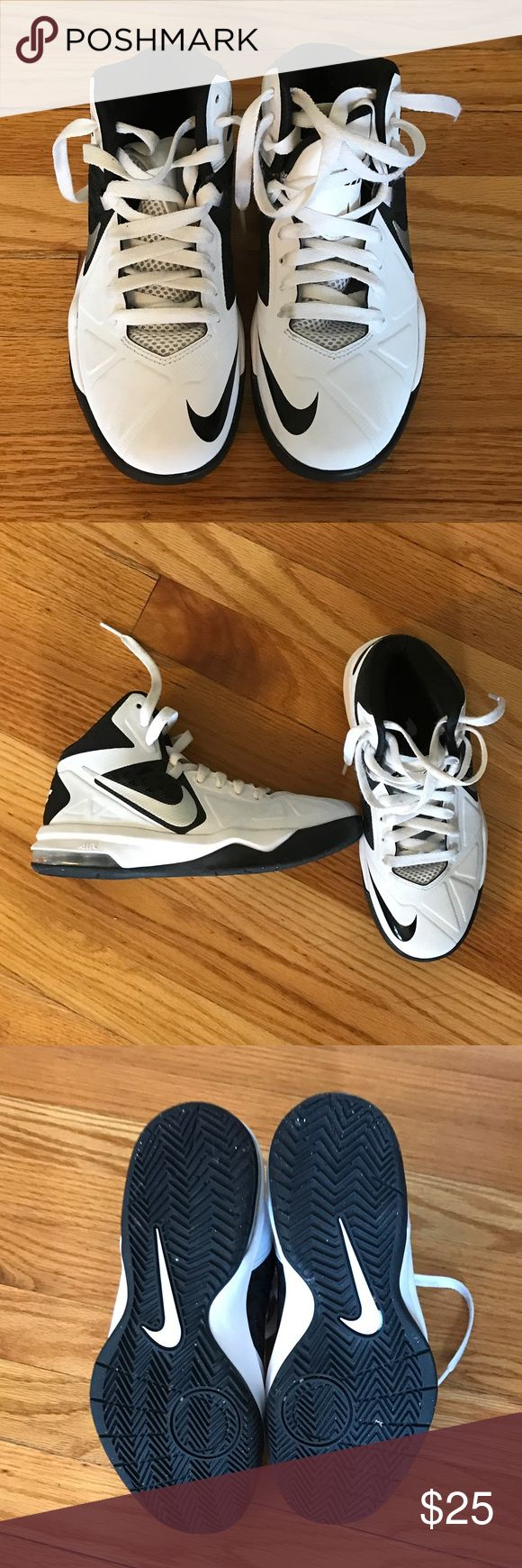 Boys Nike Air Basketball Shoes, Size 5 Boys Nike Air Basketball Shoes. Size 5. Only used once on a basketball court because they ended up being too big for my son. Excellent condition. Very little signs of use. Nike Shoes Sneakers