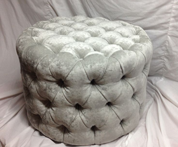 round tufted ottoman upholstered ottoman coffee table tufted stool round stool custom made ottoman by newagainuph