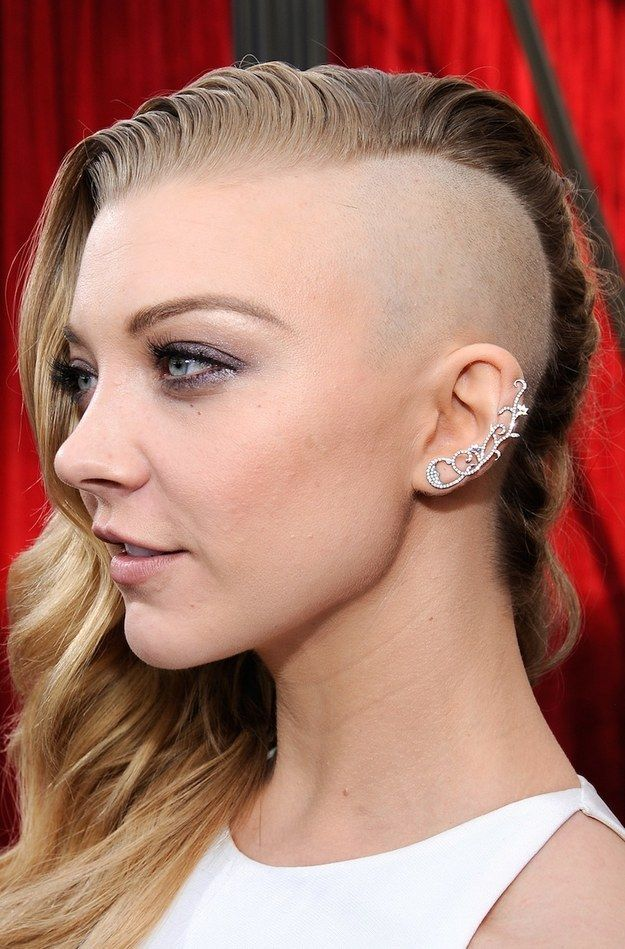 Half shaved head for girls