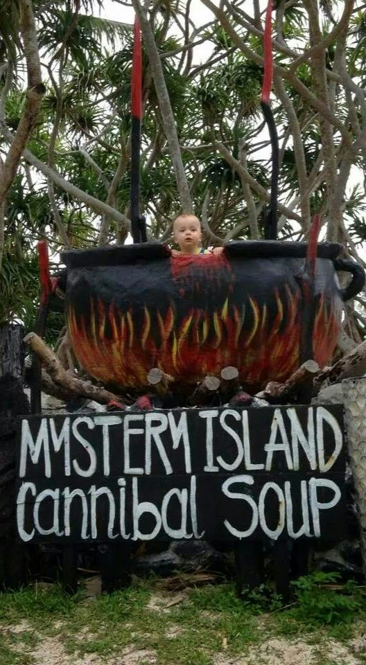 Henry in the soup. Mystery Island, Vanuatu. Photo by Andrew Parker