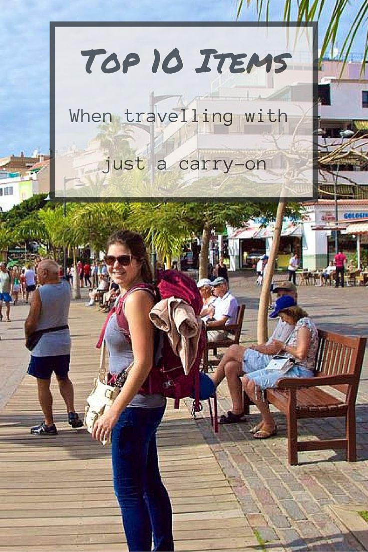 Travelling with just a carry-on can sometimes be challenging, but with the right tools you will succeed. Here is a great list of the top 10 items to bring if you are travelling with just a carry-on.
