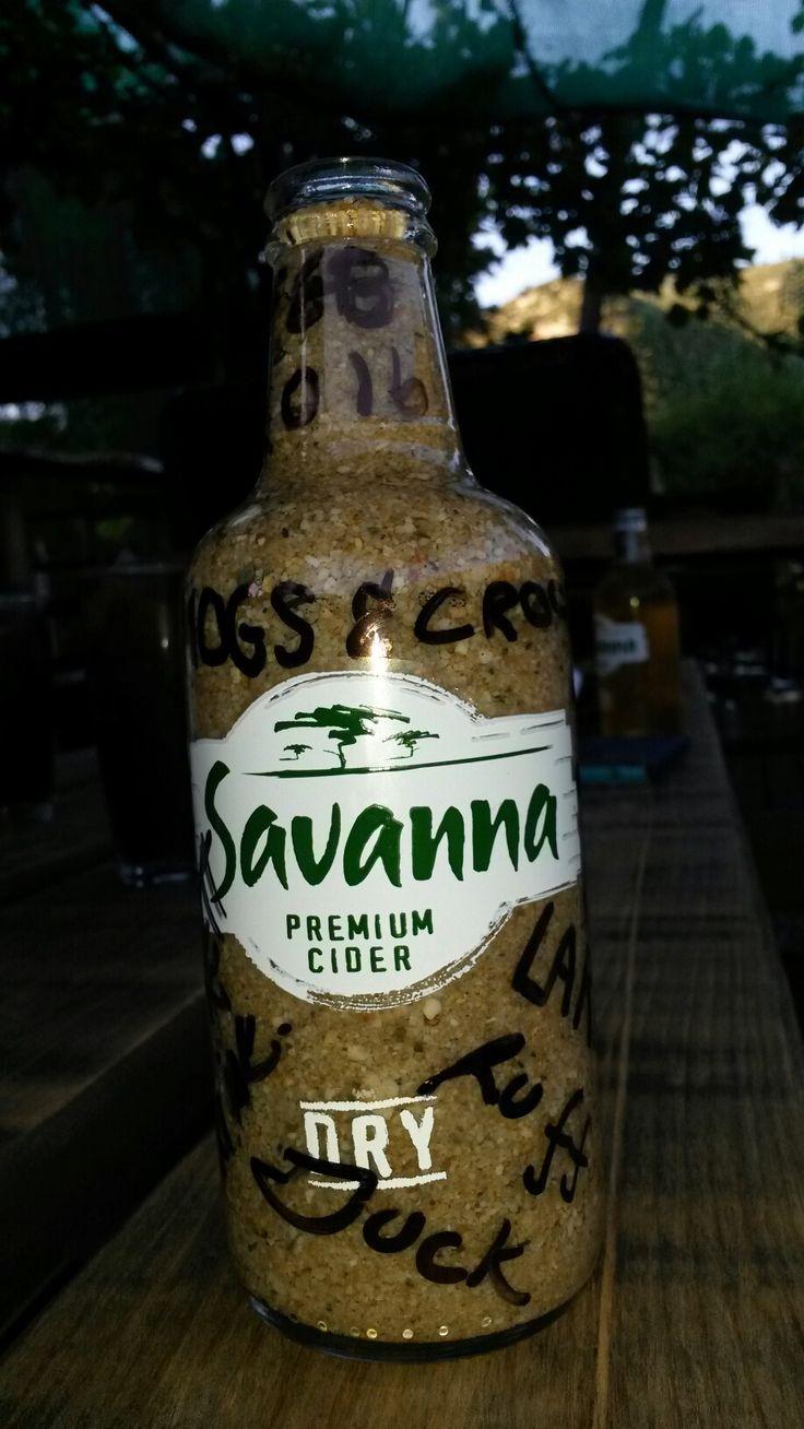 Souvenir bottle left behind at Angies G Spot