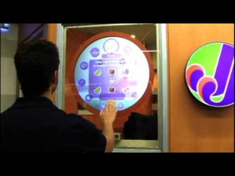 H+ Air Motion System installed at Jugo Juice, Downtown, Vancouver. The project was in collaboration with D-Sign.