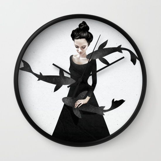 News from afar Wall Clock by Ruben Ireland