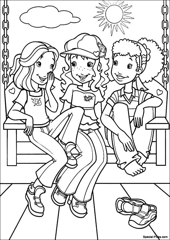 holly hobbie coloring pages - photo#9