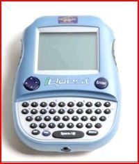 Quantum Leap I-Quest IQuest Interactive Talking Handheld by Leap Frog Enterprise, Inc.. $1.49. IQuest Features: quiz questions, 2 game modes,. Schedule, calendar, address book, calculator, & an electronic notepad. Ages 10 and up. Keeps score!!!!!! 75,000 word dictionary, anagram games. Grades 5 and up. Quantum Leap I Quest is the perfect study buddy for anyone from Grade 5 to college an age 10 to 50. I Quest has a 8 MB memory. 4 MB cartridge with 1,000 questions, Snap-on cover/...