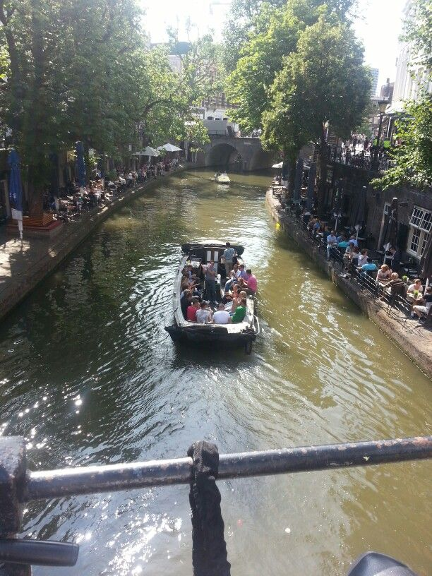 A sunny day at the Oude Gracht in Utrecht, The Netherlands...