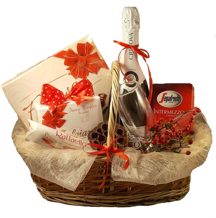 Cos cadou Red & White www.venellagift.ro