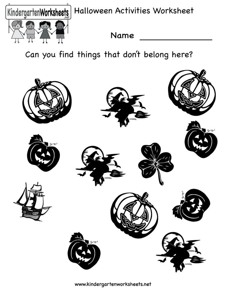 kindergarten halloween worksheet halloween worksheetspreschool - Halloween Worksheets Preschool