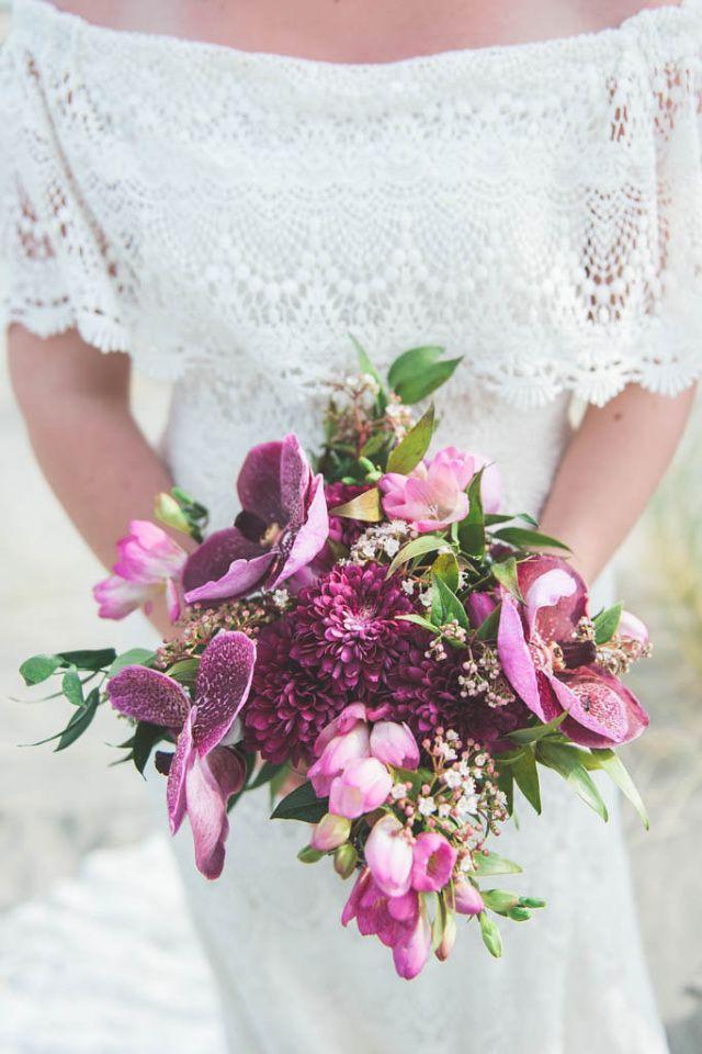 Gebruik levende kleurig voor je bruidsboeket!