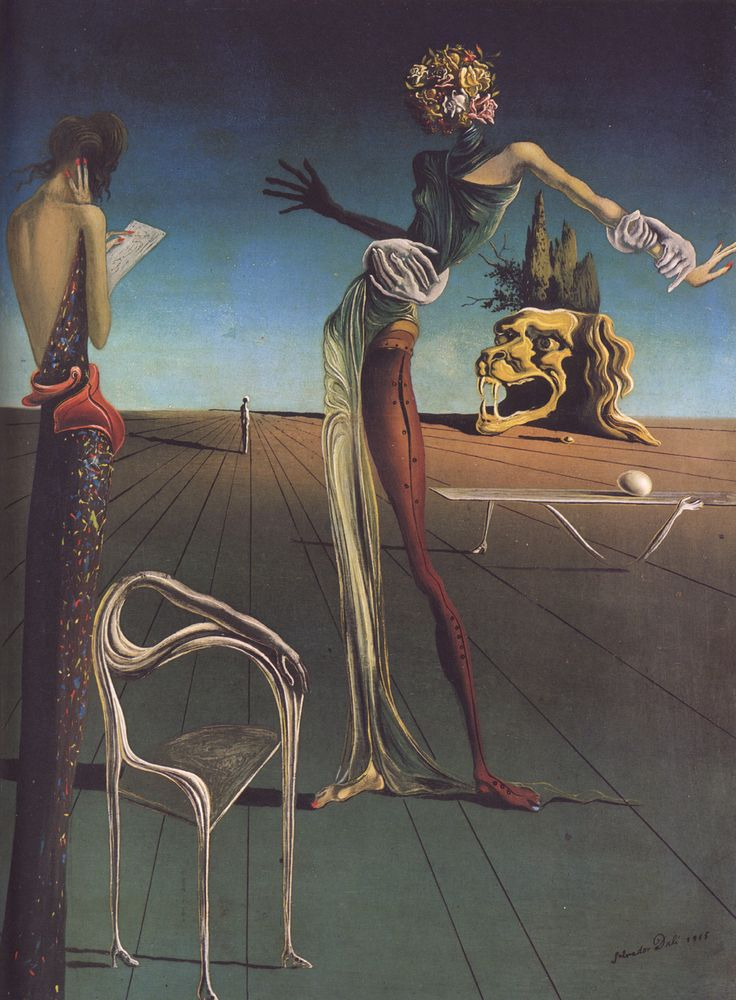 Woman with a Head of Roses - Salvador Dali (1935)