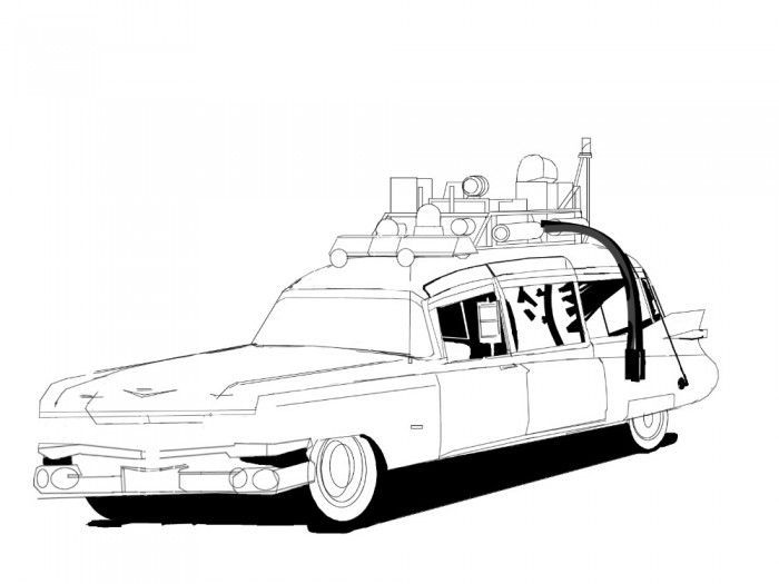 Ghostbusters Car Coloring Pages