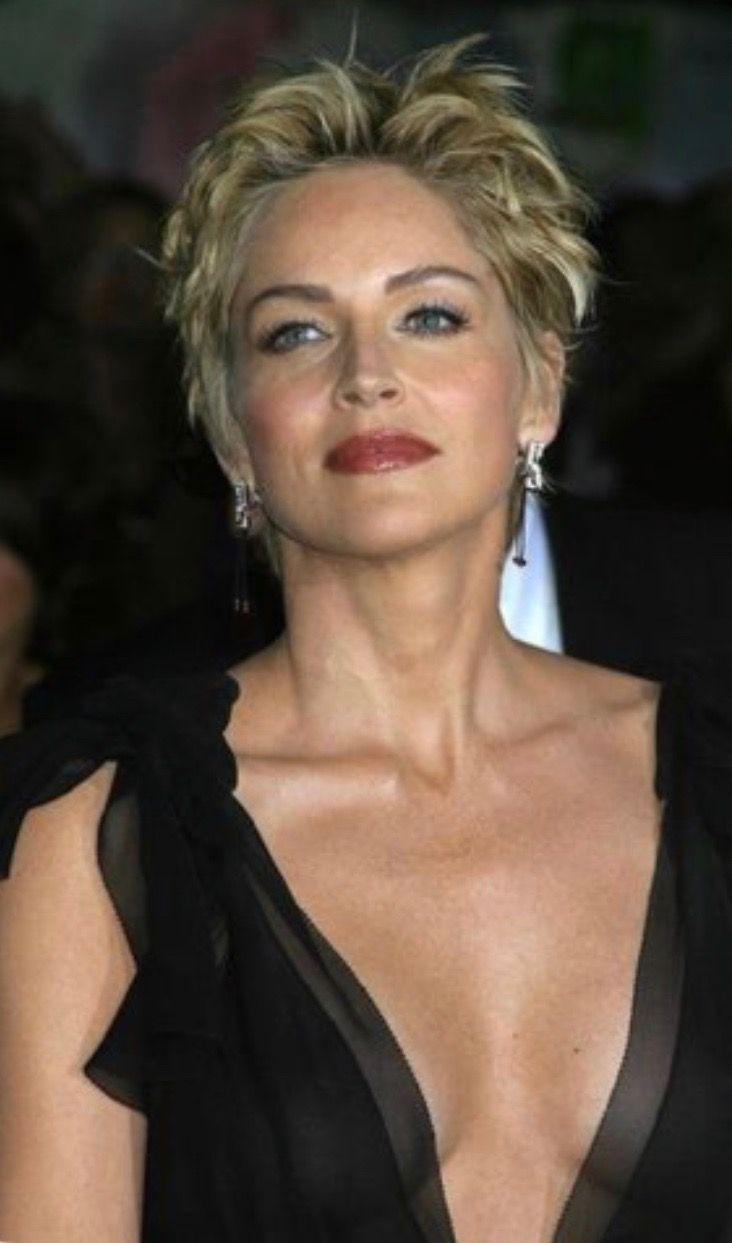 Good Sharon Stone Hairstyles In 2019 Sharon Stone