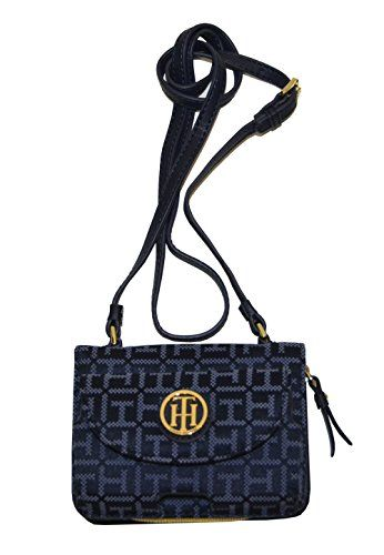Tommy Hilfiger Women Monogram Phone Crossbody Handbag