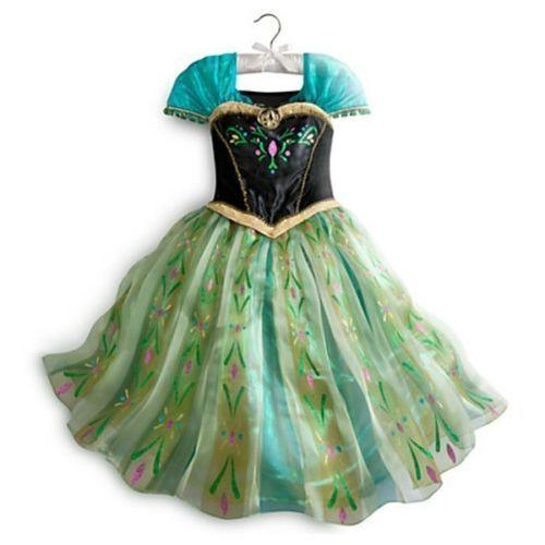 robe dguisement costume la reine des neiges frozen elsa anna enfant fille neuf - Robe Anna Reine Des Neiges