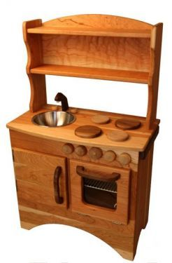 Perfect...sturdy, non-toxic and just waiting for hours upon hours of imaginative play. It is a bit more expensive than the kitchens we've had in the past, but considering that they get so much use we've been through three (or four?) overall it is a great deal.