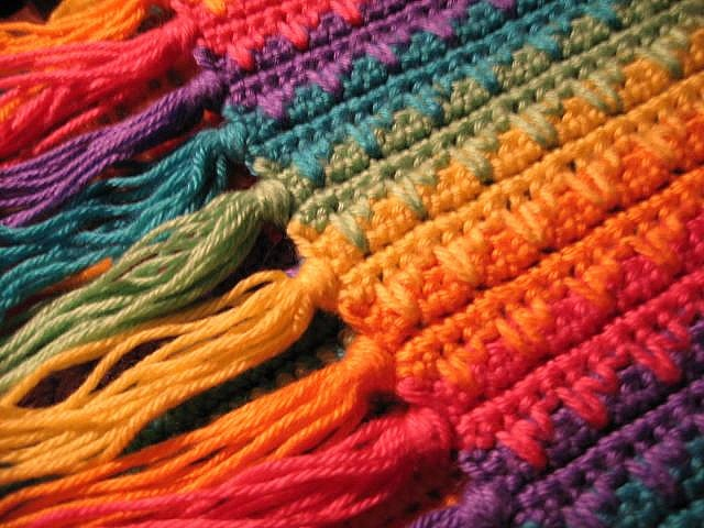 Rainbow Waves Afghan Crochet Ideas Pinterest