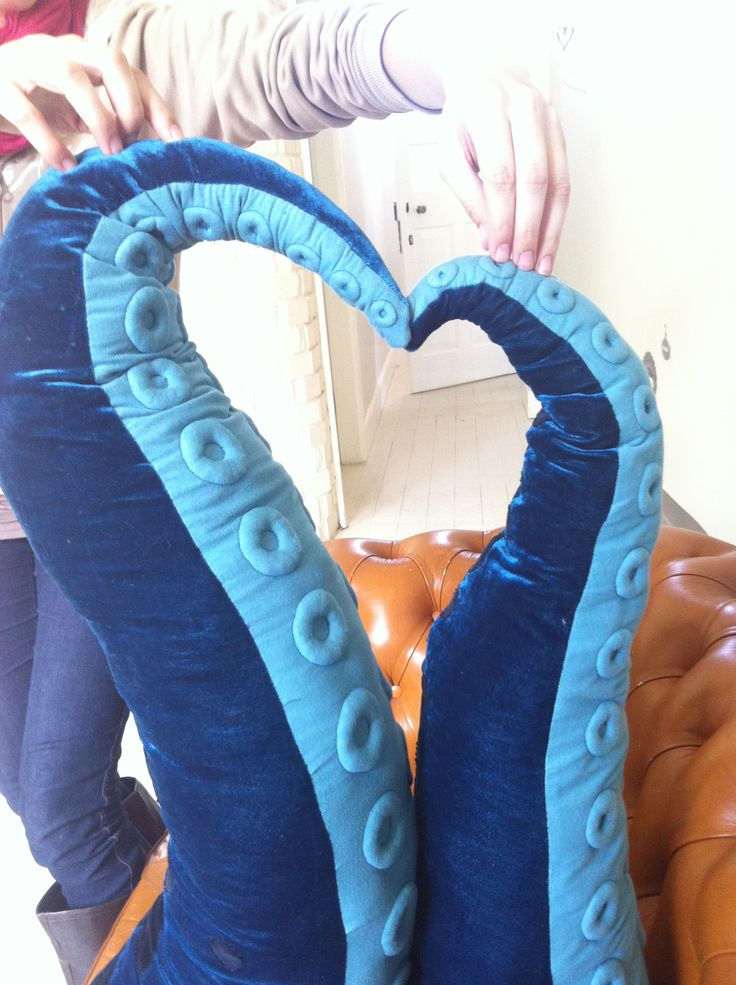 Tentacle pillows, as created by one of our Senior Animators
