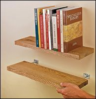 Blind Shelf Supports - Hardware -  DIY Floating Woodshelves (reclaimed wood)