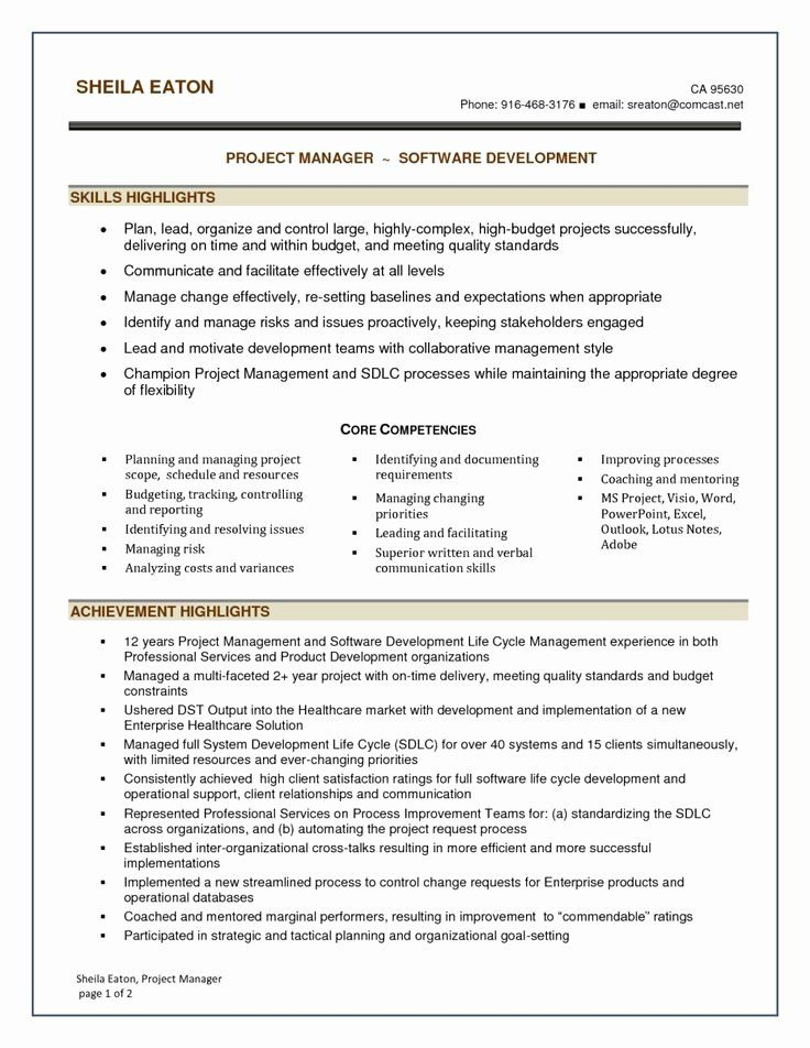 20 Healthcare Project Manager Resume in 2020 Project