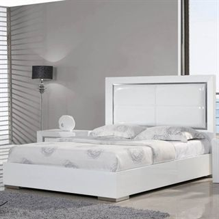 Check out the Whiteline Modern Living BQ1047L-WHT Ibiza Queen Bed in High Gloss White