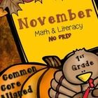 Come check out these 1st grade Math & Literacy Common Core aligned Print & Go Printables for Thanksgiving. Perfect for homework, morning work, quick checks, exit tickets.
