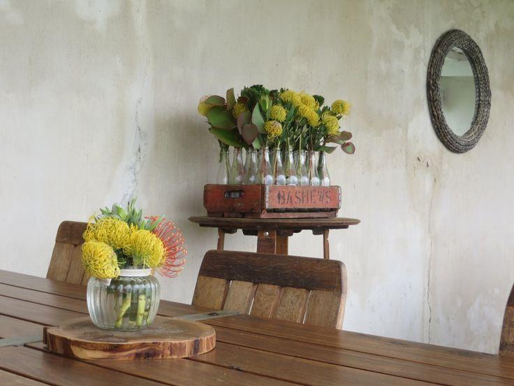 Restaurant patio #pincushions #interior #design #flowers