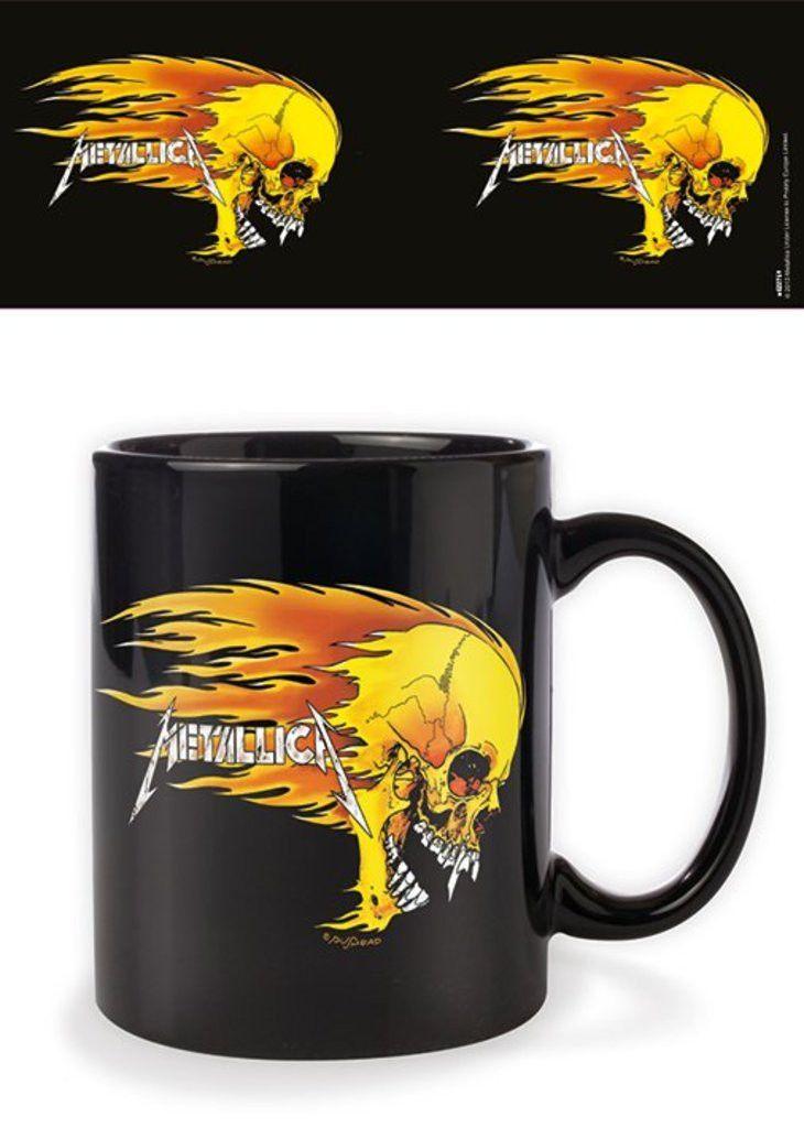 Metallica - Flaming Skull - Ceramic Coffee Mug