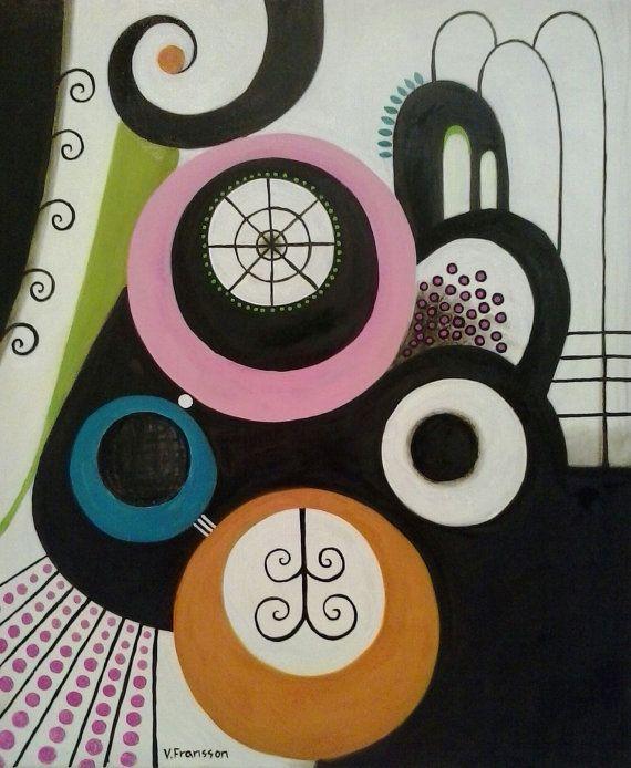 Modern painting no 1 by StudioMagentaVF on Etsy