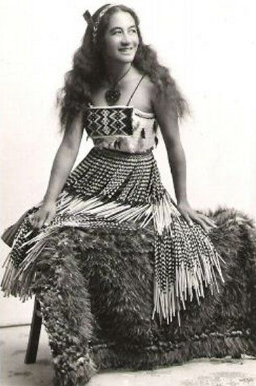 Maori dancer, Rotorua. Historical Postcard