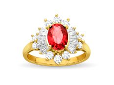 #Ruby #Jewelry  78% off 1 1/2 ct Ruby and White Sapphire Ring in 14K Gold over Sterling Silver with discount code at  http://mother-gifts.net/birthstones-and-gemstone-jewellery Offer Ends 7/13