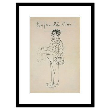Check out this item at One Kings Lane! Picasso, Bonjour Mlle Cone, 1907