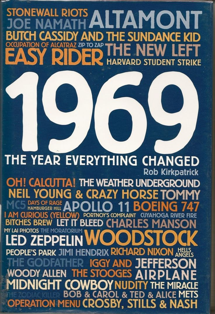 1969, the year everything changed. Also the year my oldest graduated from High School.