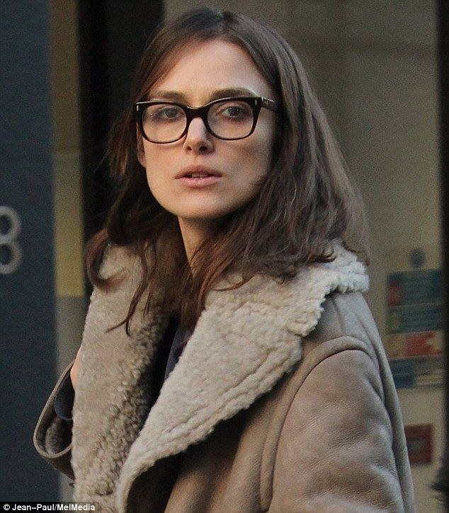 Natural beauty: Keira Knightley went from glamorous to grungy as she stepped out with her mother, Sharman Macdonald, in central London on Th...