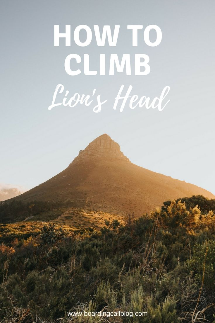 Don't miss climbing Lion's Head on your trip to Cape Town! This ie one of the best things to do in Cape Town, South Africa