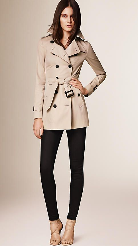 Burberry Honey The Sandringham - Short Heritage Trench Coat - A slim fit trench coat, The Sandringham is tailored closely to the body with a fitted waist. Discover the women's outerwear collection at Burberry.com