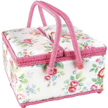 Cath Kidston - Trailing Floral Twin-Lidded Sewing Basket (SIGH...Heidi): Sewing Baskets, Floral Prints, Trail Floral, Sewing Box, Pin Cushions, Floral Twin Lids, Twin Lids Sewing, Cath Kidston, Sewing Accessories