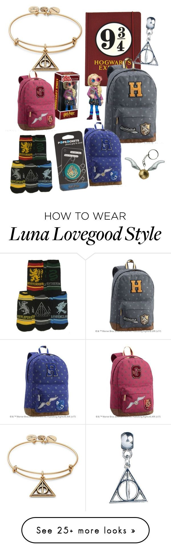 """""""#PolyPresents: Last-Minute Gifts Harry Potter ⚡️"""" by fashion0203 on Polyvore featuring Alex and Ani, PBteen, Funko, PopSockets, contestentry and polyPresents"""
