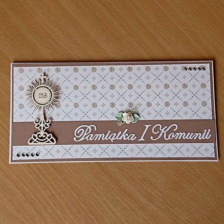 Ręcznie wykonana kartka - pamiątka I Komunii