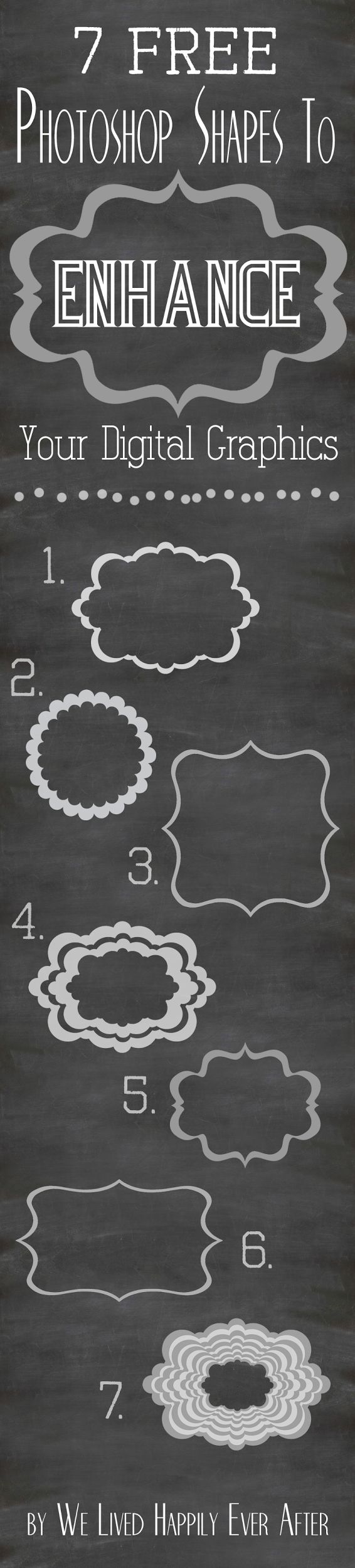 7 Free Photoshop Shapes to Enhance your Digital Graphics (and how to use them)
