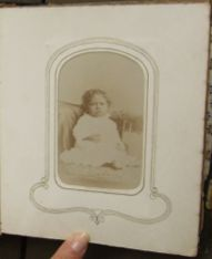Here is another image of an infant in the albums, however this one is unnamed. Were these children relatives of Arabella? Were they children of her friends? #umichDAAS336 #UniversityofMichigan #ArabellaChapman