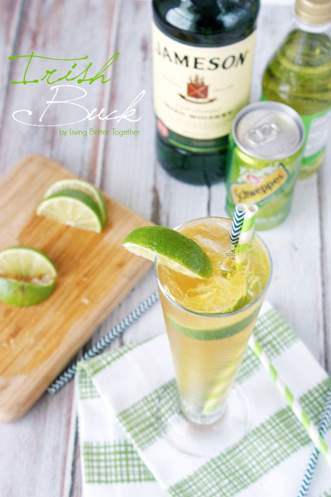 This Irish Buck Cocktail is a bright mix of smooth Irish whiskey, ginger ale, and lime juice and it's perfect for St. Patty's Day!