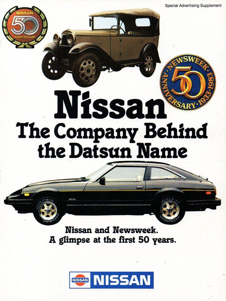 1983 Datsun Nissan 280Z Nissan Motor Company 50 Years 1933-1983 Page 1 Aussie Original Magazine Advertisement