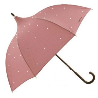 Old Rose Diamante Pagoda Umbrella by Chantal Thomass £89.99