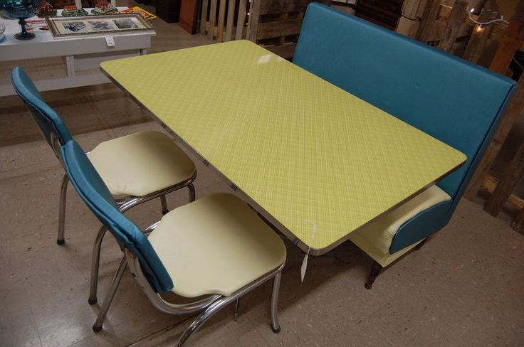 New Old Stock Lloyd MFG of Heywood Wakefield Diner Table with Chairs and Booth | Business & Industrial, Restaurant & Catering, Furniture, Signs & Décor | eBay!
