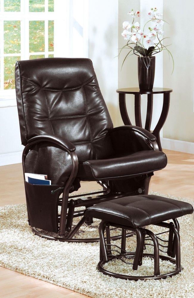 Rocker Recliner Chair Set in Brown w/ Ottoman #rocker #recliner #ottoman #reclinerchair #rockerchair #fathersday #fathersday2015 #fathersdayweekend #fathersdaygift #fathersdaypresent #fathersdayspecial #efurnituremart #HomeDecorator #decor #roomdecorating - eFurnitureMart, eFurniture Mart