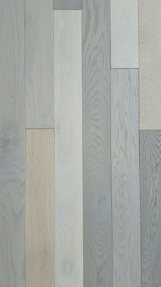 Hardwood planks with different surface finishes.